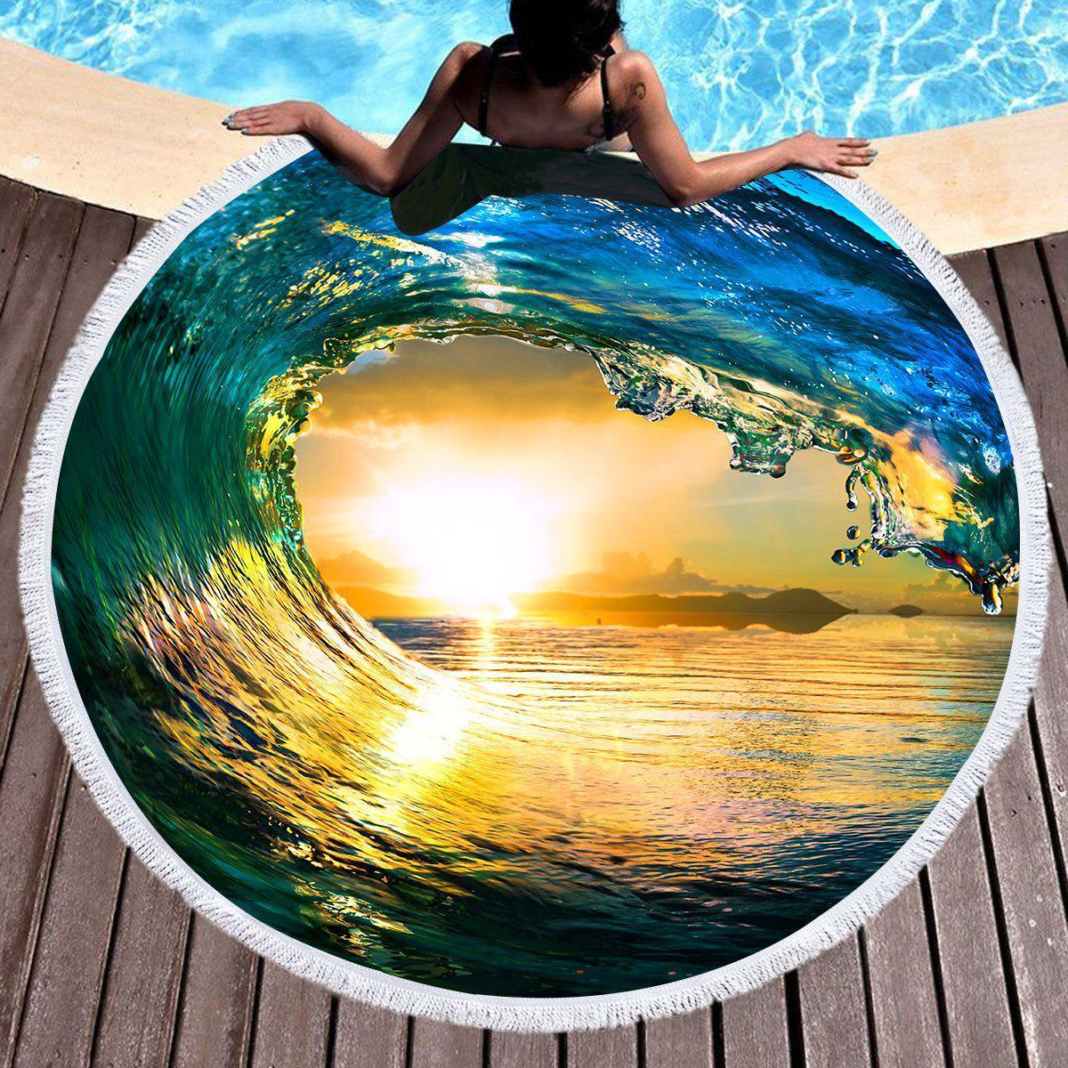 The Eye of the Ocean Round Beach Towel-Round Beach Towel-Coastal Passion