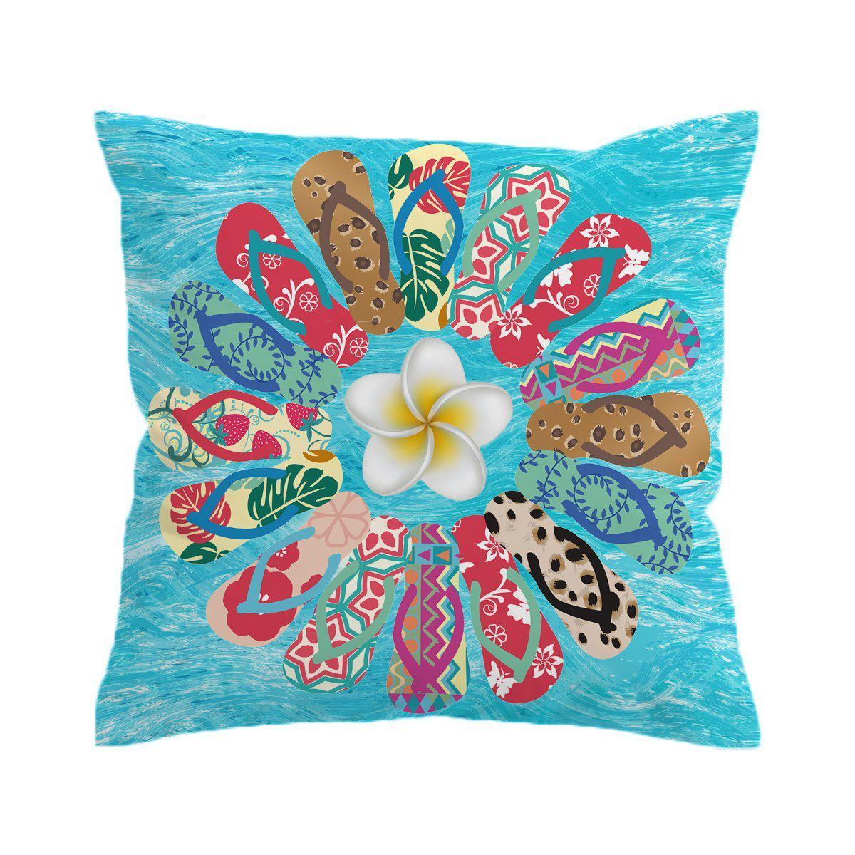The Flip Flop Flower Pillow Cover-Coastal Passion