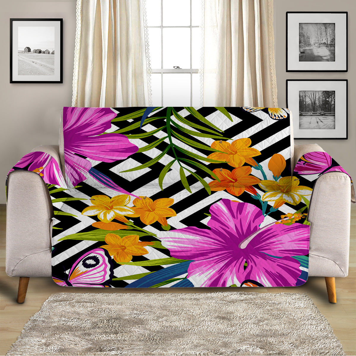 The Flower Garden Sofa Cover