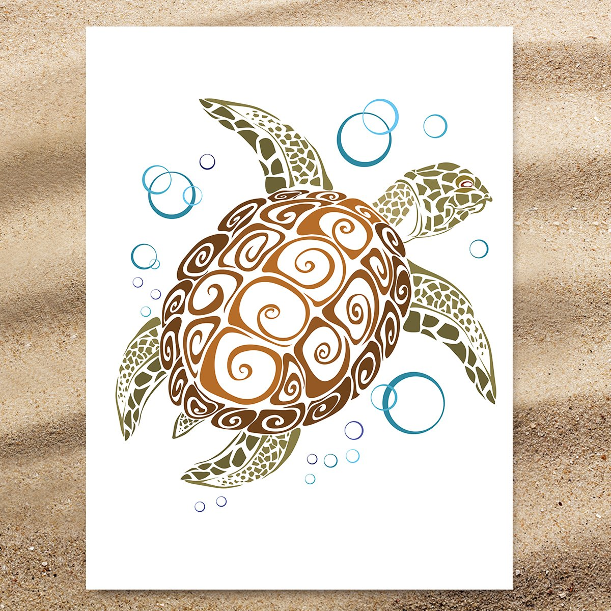 The Great Sea Turtle Extra Large Towel-Coastal Passion