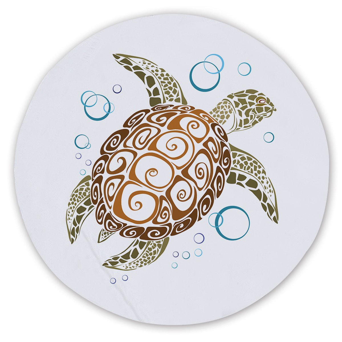 The Great Sea Turtle Round Sand-Free Towel-Coastal Passion
