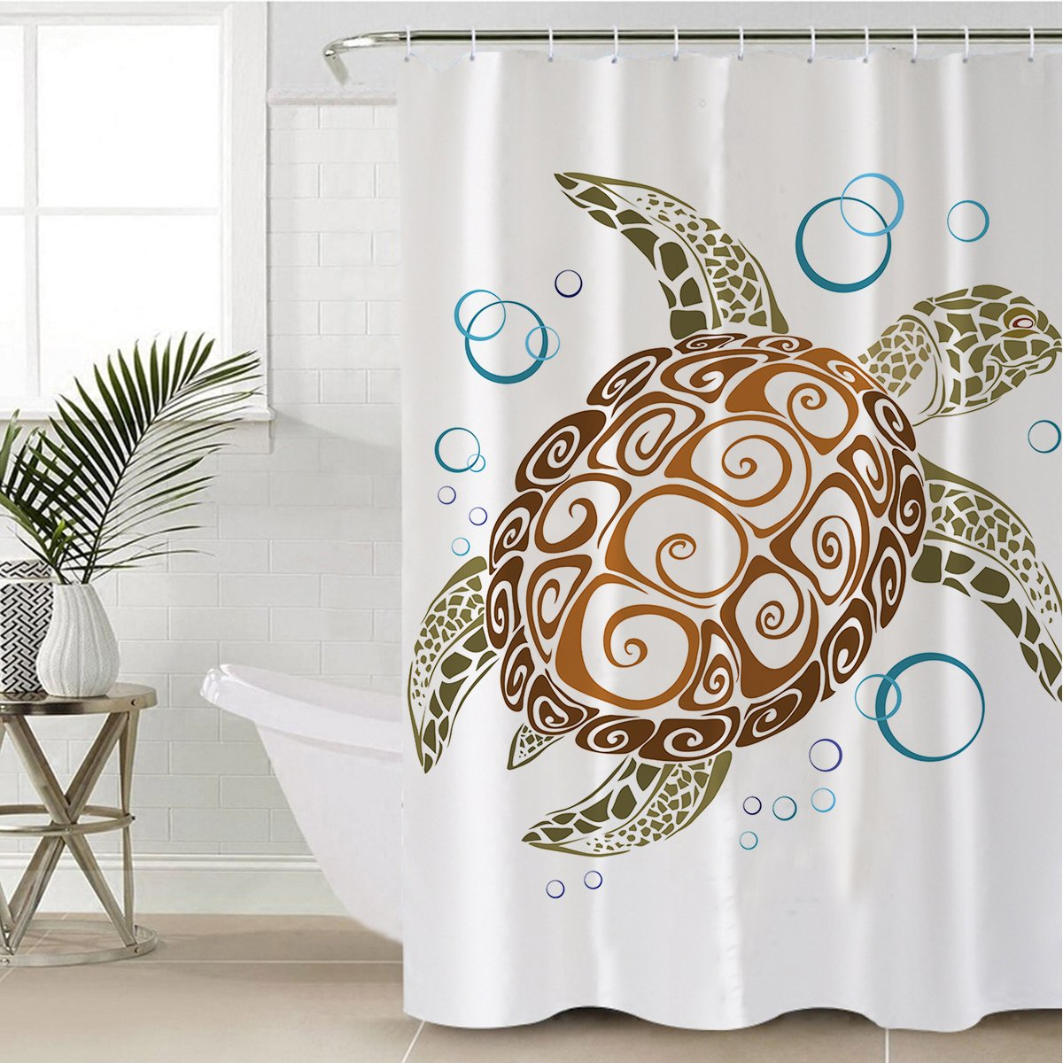 The Great Sea Turtle Shower Curtain