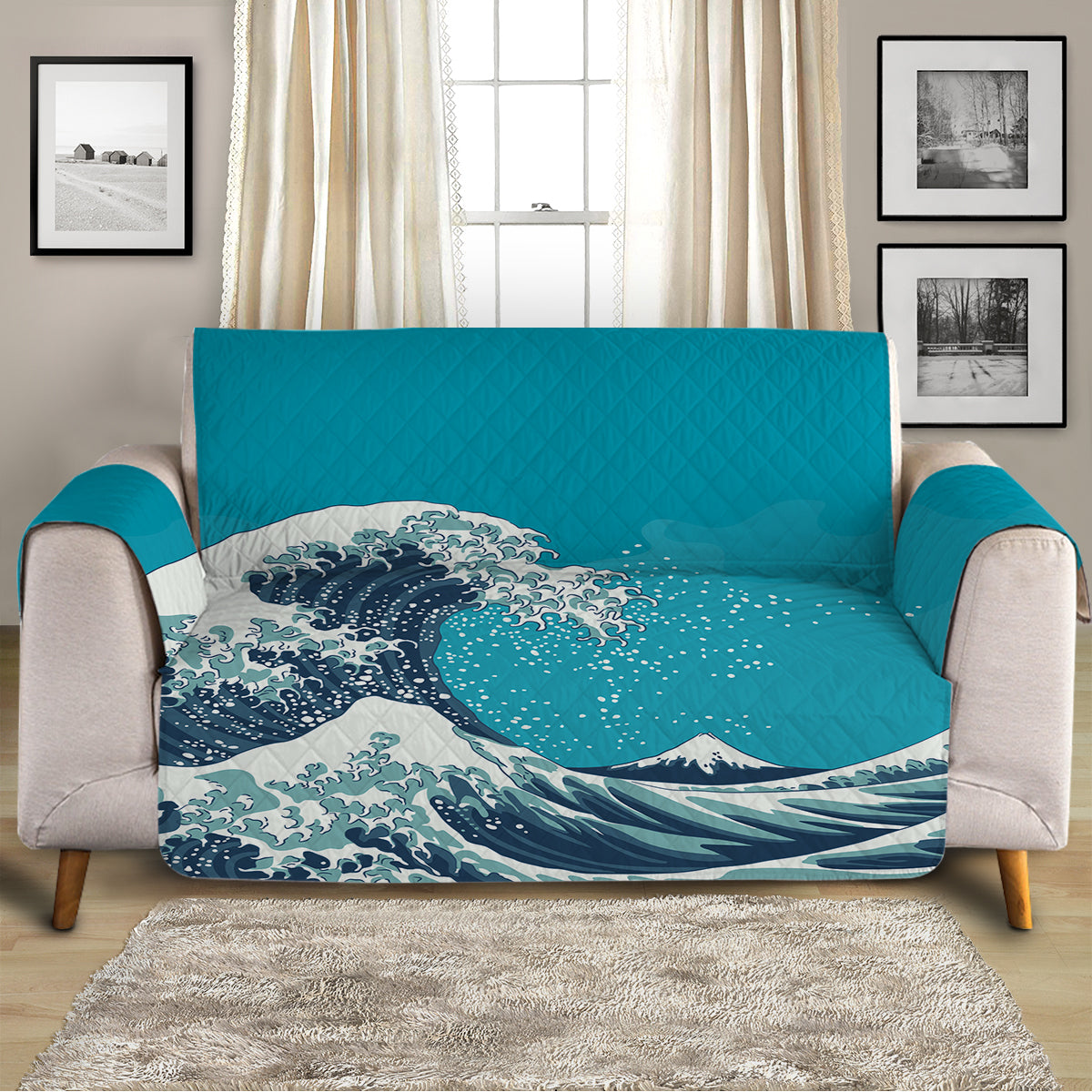 The Great Wave Sofa Cover