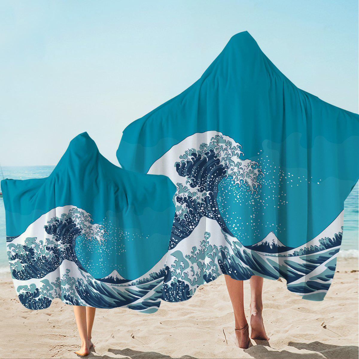 The Great Wave Hooded Towel-Coastal Passion