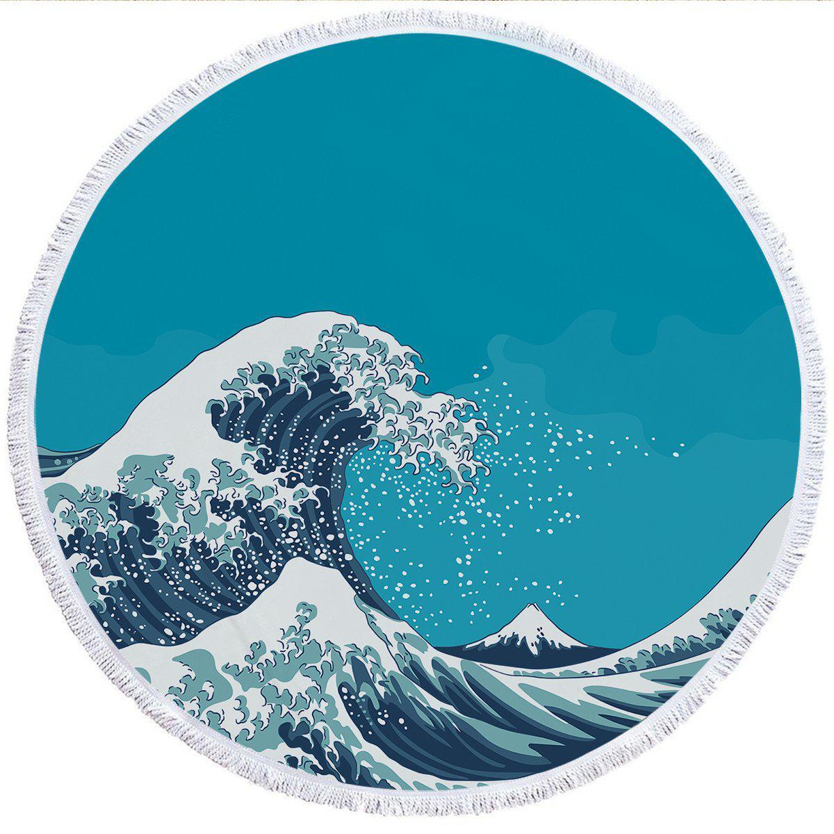 The Great Wave Round Beach Towel-Coastal Passion