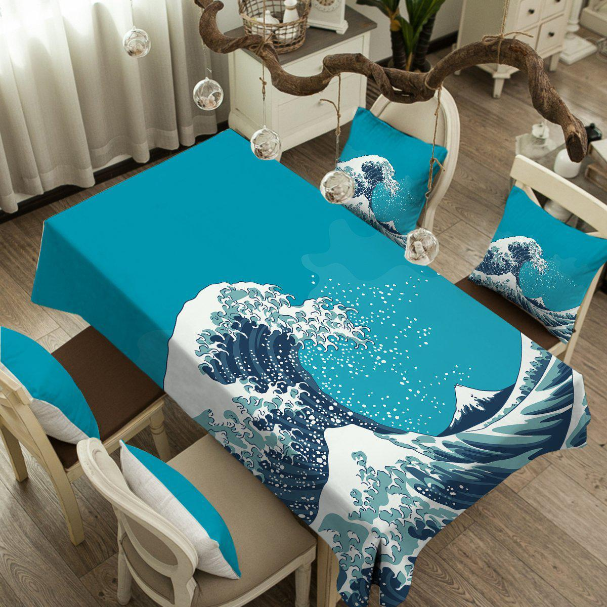 The Great Wave Tablecloth-Coastal Passion