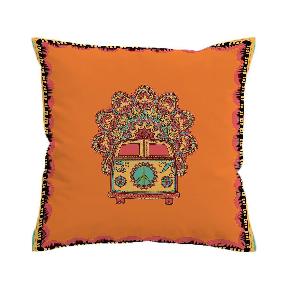 The Happy Bus Pillow Cover-Coastal Passion