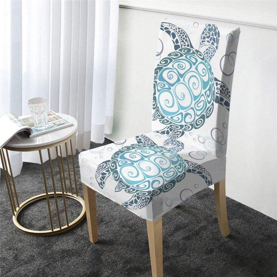The New Sea Turtle Twist Chair Cover-Coastal Passion