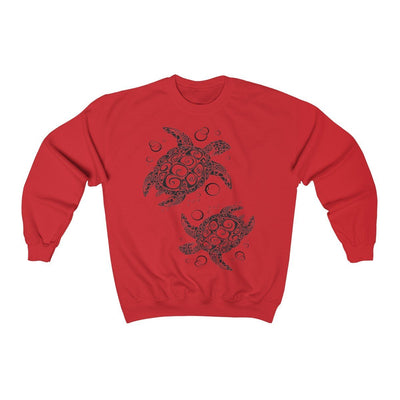 The New Turtle Twist Sweatshirt-Sweatshirt-Red-S-Coastal Passion