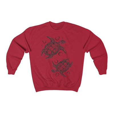 The New Turtle Twist Sweatshirt-Sweatshirt-Cherry Red-S-Coastal Passion