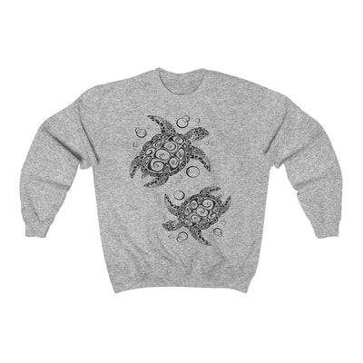 The New Turtle Twist Sweatshirt-Sweatshirt-Sport Grey-S-Coastal Passion