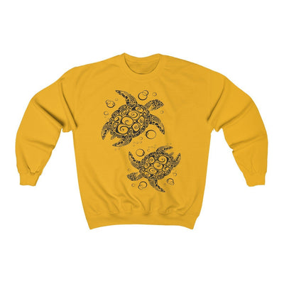 The New Turtle Twist Sweatshirt-Sweatshirt-Gold-S-Coastal Passion