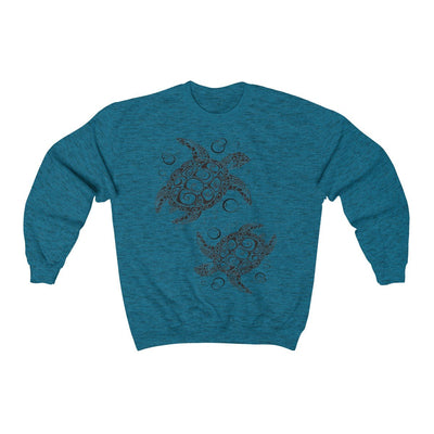 The New Turtle Twist Sweatshirt-Sweatshirt-Antique Sapphire-S-Coastal Passion