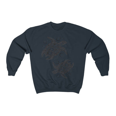 The New Turtle Twist Sweatshirt-Sweatshirt-Navy-S-Coastal Passion