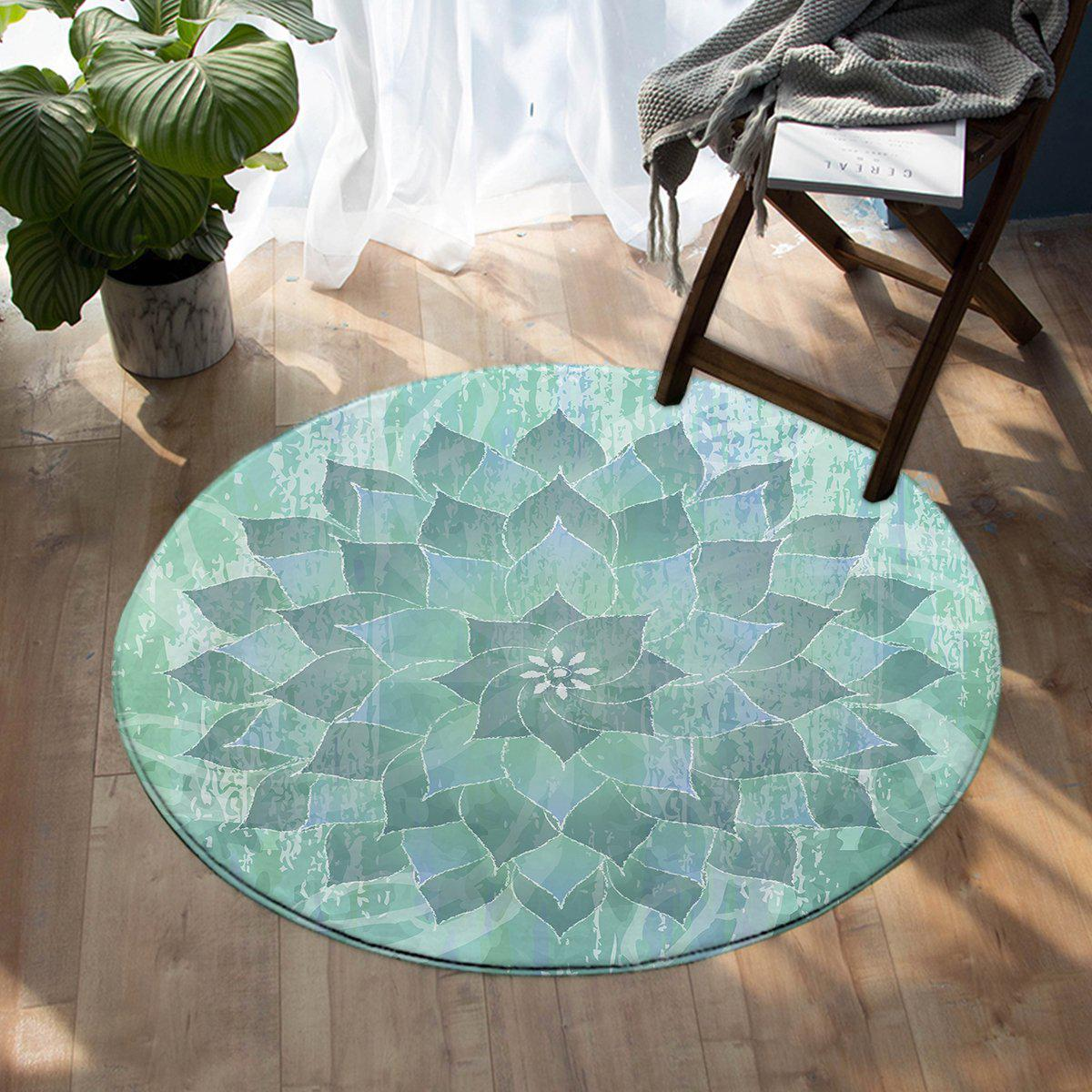 -The Ocean Hues Round Area Rug-Coastal Passion