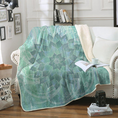 "The Ocean Hues Soft Sherpa Blanket-Blanket-Oversize: Size 80"" x 60""-Coastal Passion"