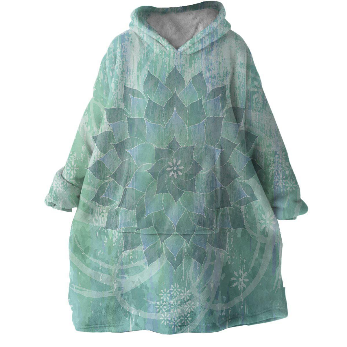 The Ocean Hues Wearable Blanket Hoodie-Coastal Passion