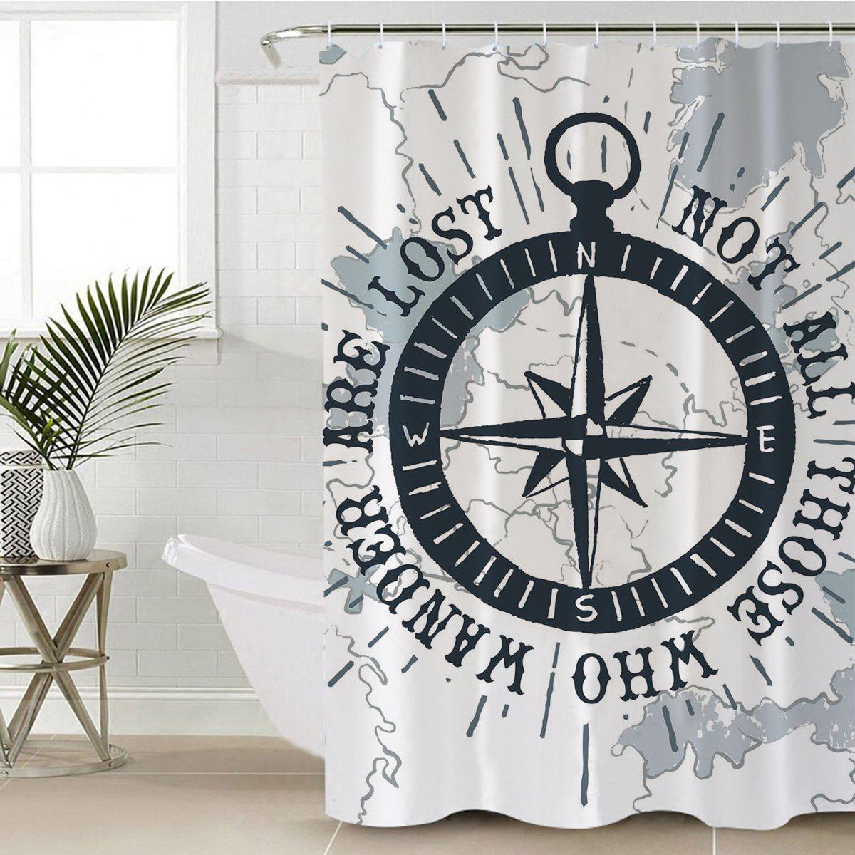 "The Ocean Wanderer Nautical Shower Curtain-Shower Curtain-59"" L. x 70"" H.-Coastal Passion"