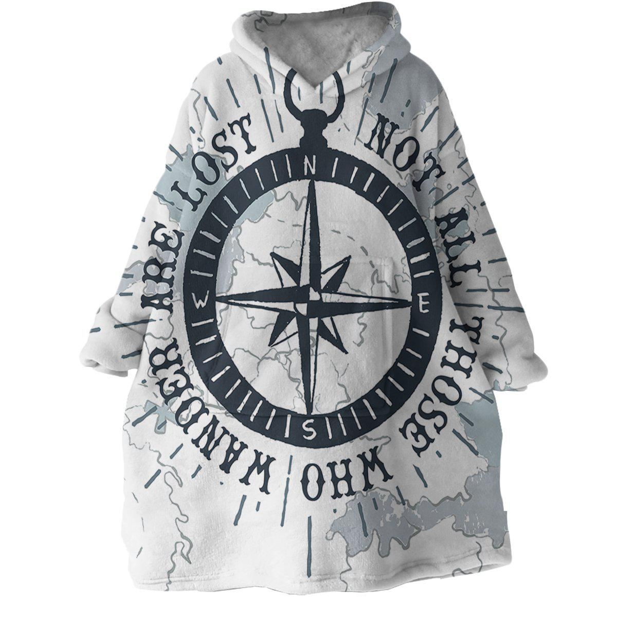 The Ocean Wanderer Wearable Blanket Hoodie-Coastal Passion