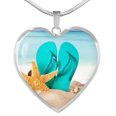 The Original Flip Flops On The Beach Necklace-Jewelry-Stainless Luxury Necklace-Coastal Passion