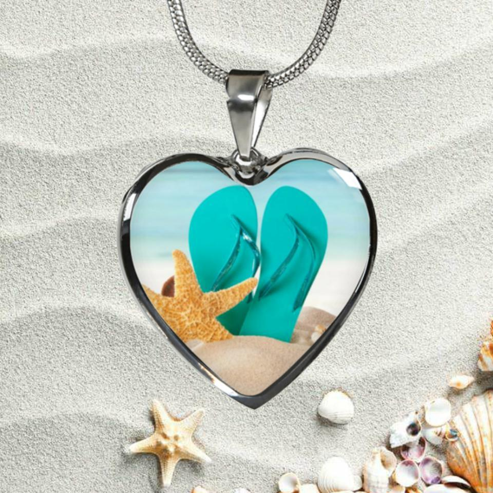 The Original Flip Flops On The Beach Necklace-Jewelry-Coastal Passion