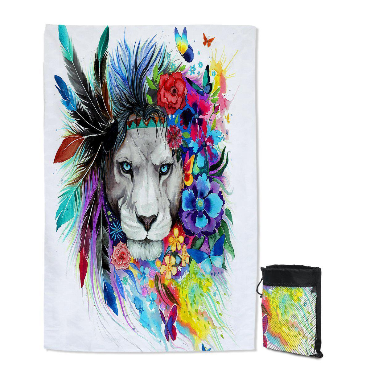 The Original Lion Vibes Sand Free Towel