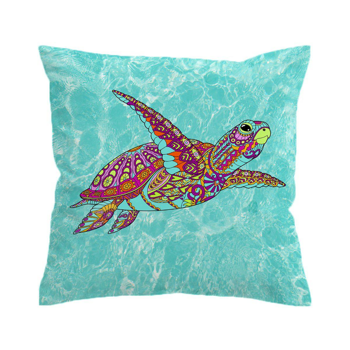 The Original Sea Turtle Spirit Pillow Cover-Coastal Passion