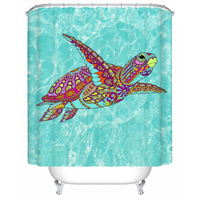 "The Original Sea Turtle Spirit Shower Curtain-Shower Curtain-59"" L. x 70"" H.-Coastal Passion"