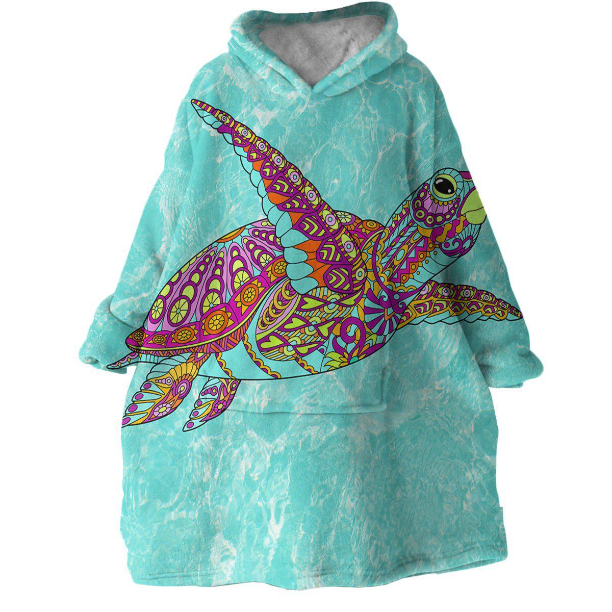 The Original Sea Turtle Spirit Wearable Blanket Hoodie-Coastal Passion