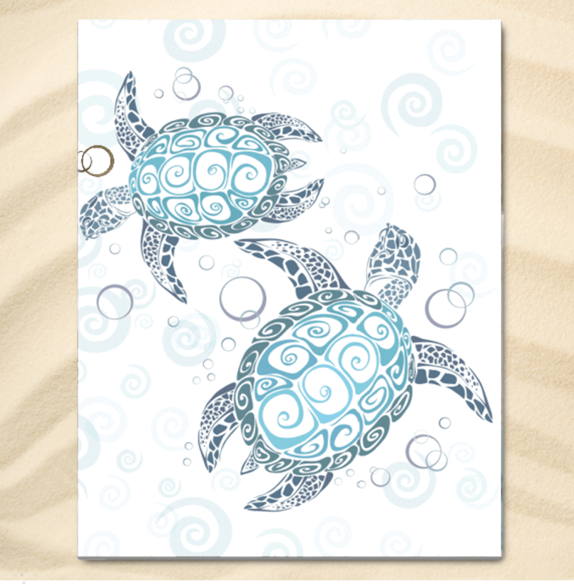 The Original Sea Turtle Twist Extra Large Towel