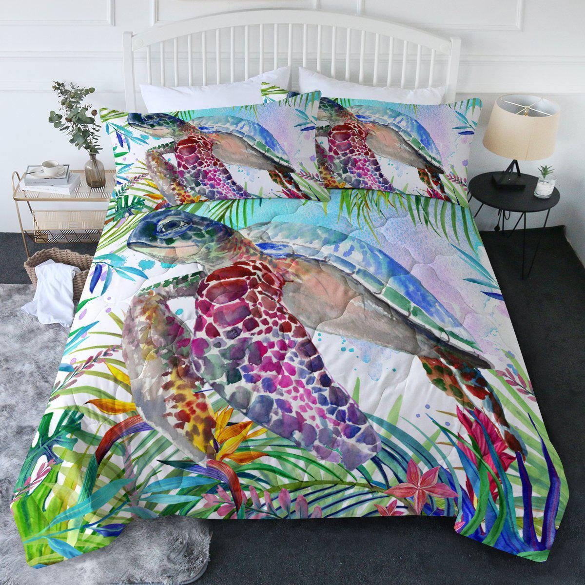The Original Tropical Sea Turtle Comforter Set-Coastal Passion