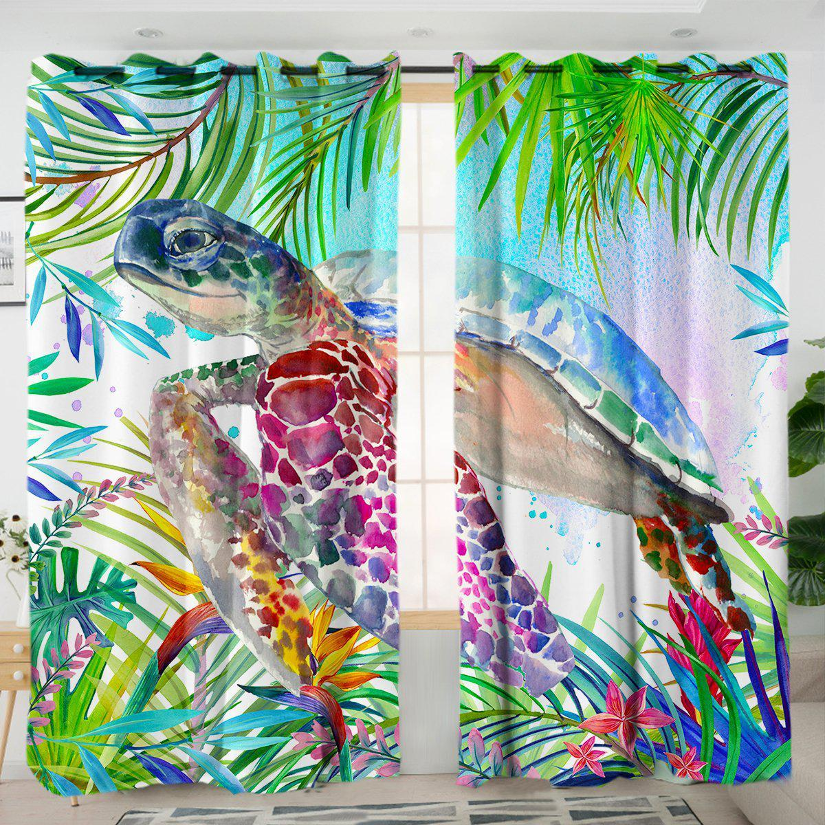 The Original Tropical Sea Turtle Curtains-Coastal Passion