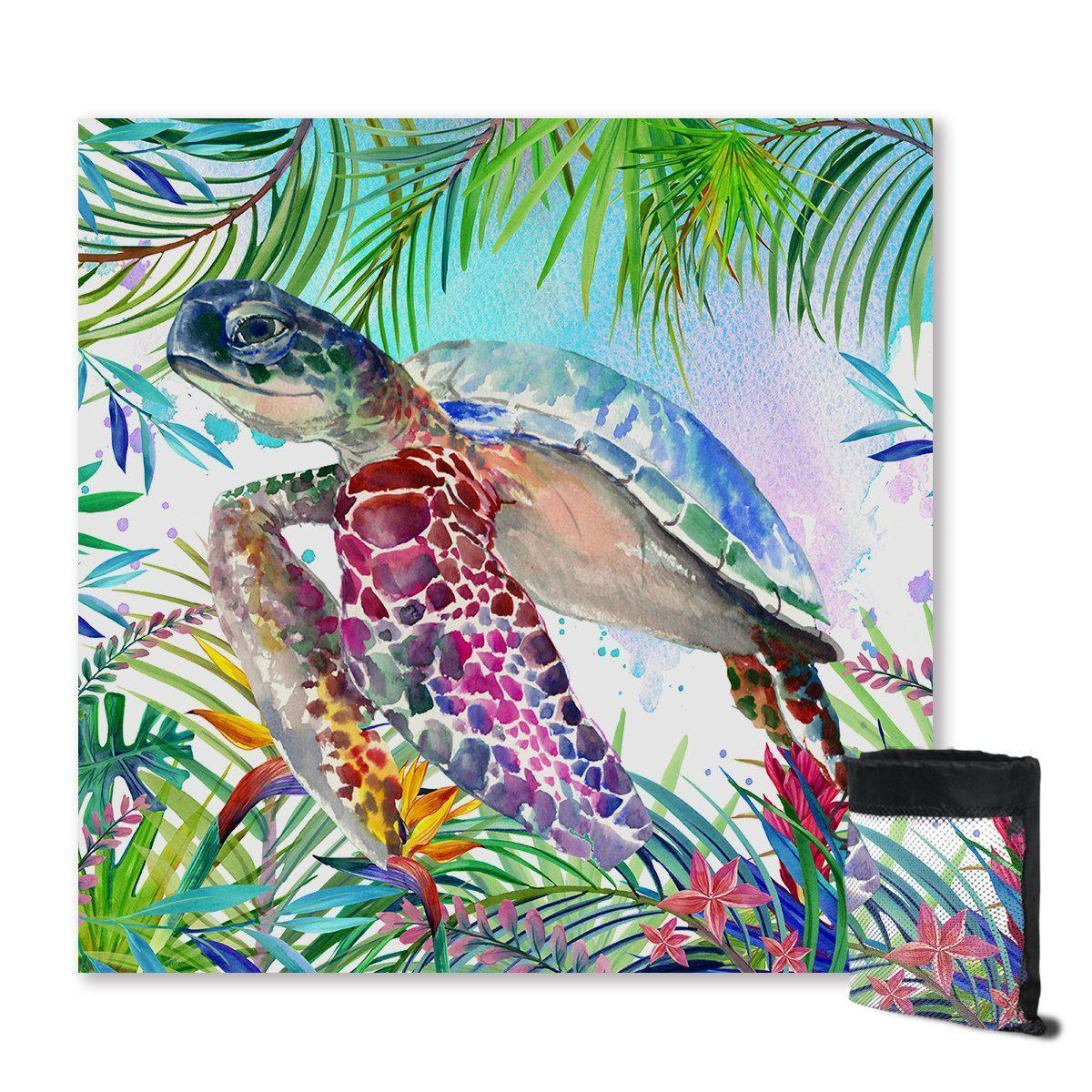 Sand Free Beach Towel-The Original Tropical Sea Turtle Sand Free Towel-Coastal Passion