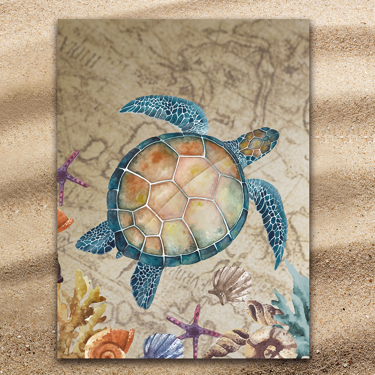 The Original Turtle Island Extra Large Towel-Coastal Passion