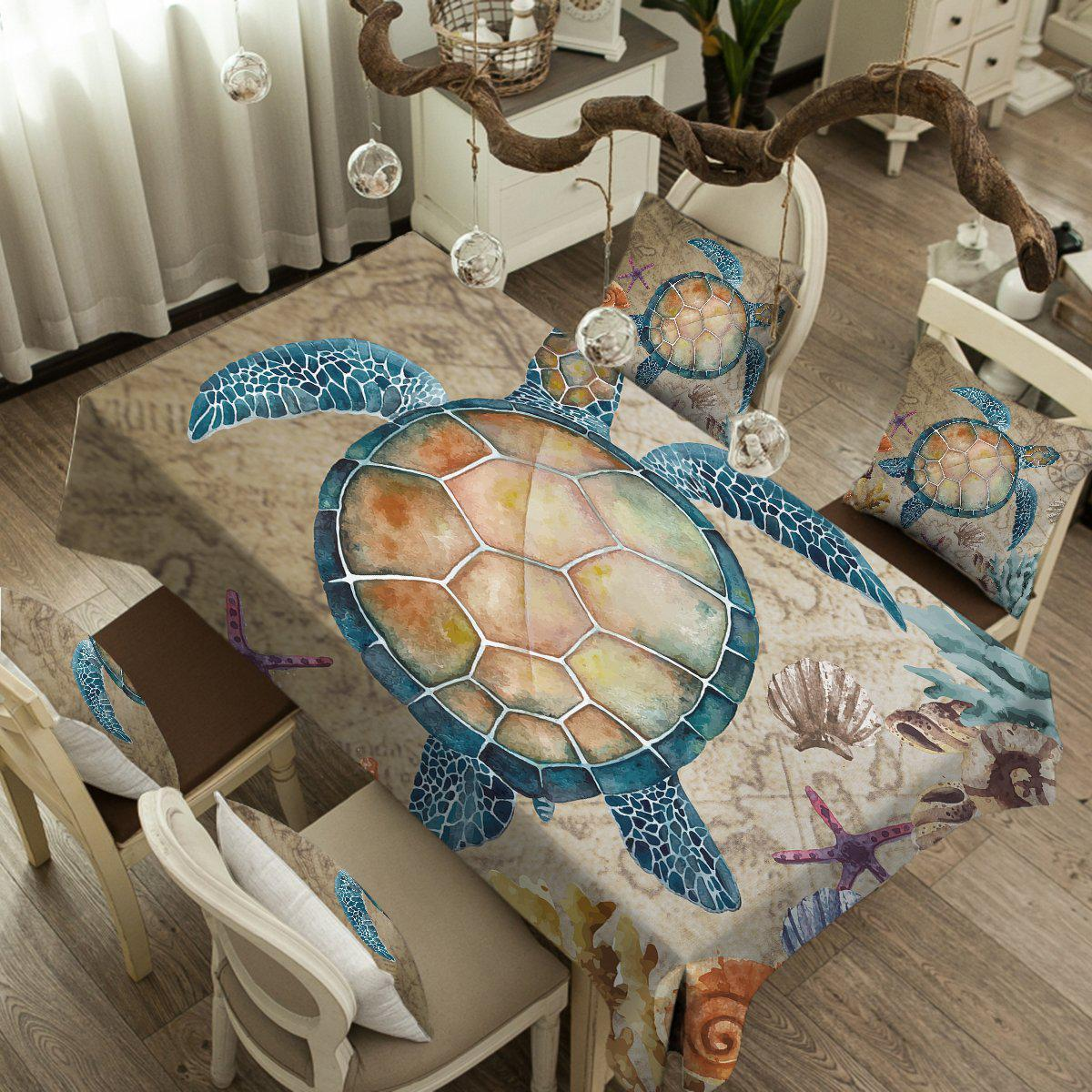 The Original Turtle Island Tablecloth-Coastal Passion