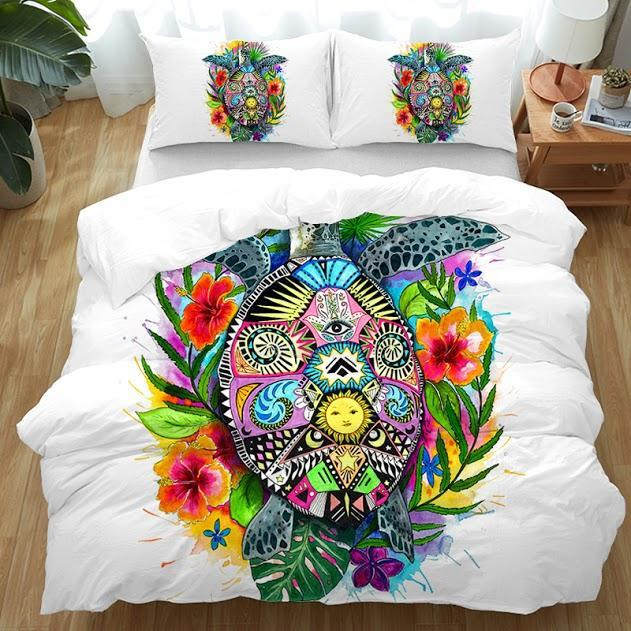 The Original Turtle Mystic Bedding Set-Duvet Comforter Bedding Set-US Twin-Coastal Passion