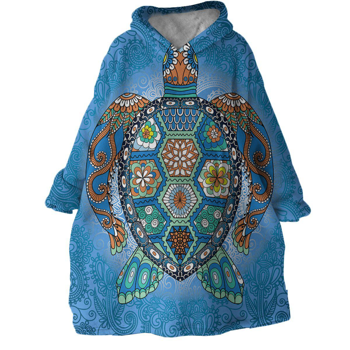 The Original Turtle Totem Wearable Blanket Hoodie-Coastal Passion