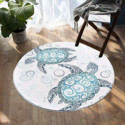 -The Original Turtle Twist Round Area Rug-Coastal Passion