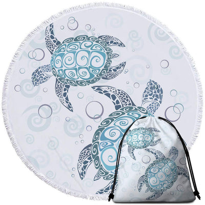 Round Beach Towel-The Original Turtle Twist Towel + Backpack-Coastal Passion