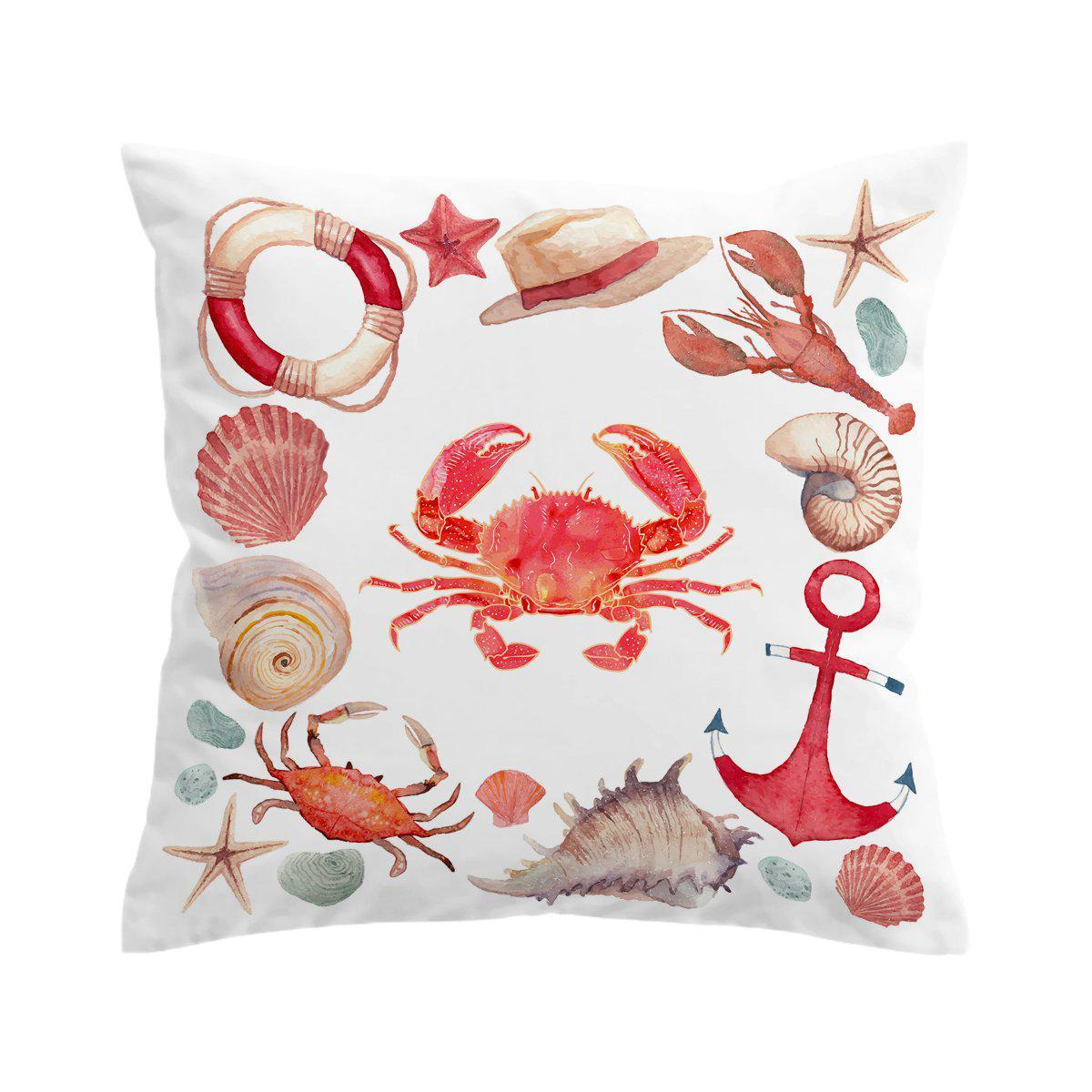 The Red Crab Pillow Cover-Coastal Passion