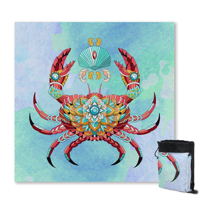 Sand Free Beach Towel-The Royal Crab Sand Free Towel-Coastal Passion
