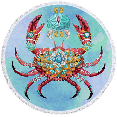 Round Beach Towel-The Royal Crab Towel + Backpack-Coastal Passion