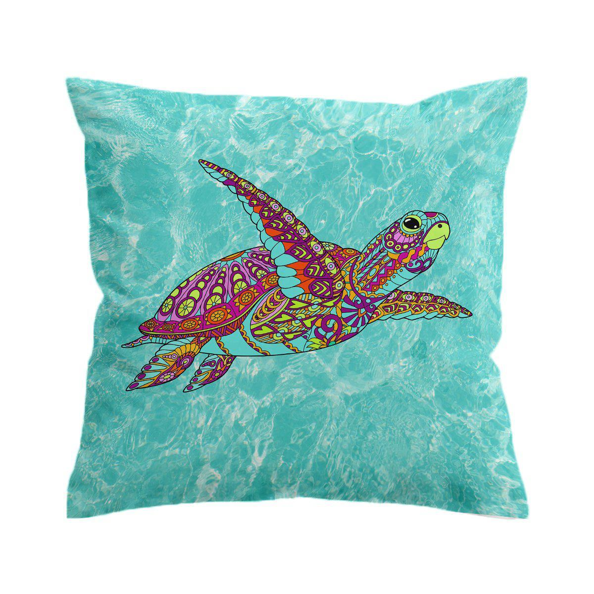 The Sea Turtle Spirit Pillow Cover-Coastal Passion