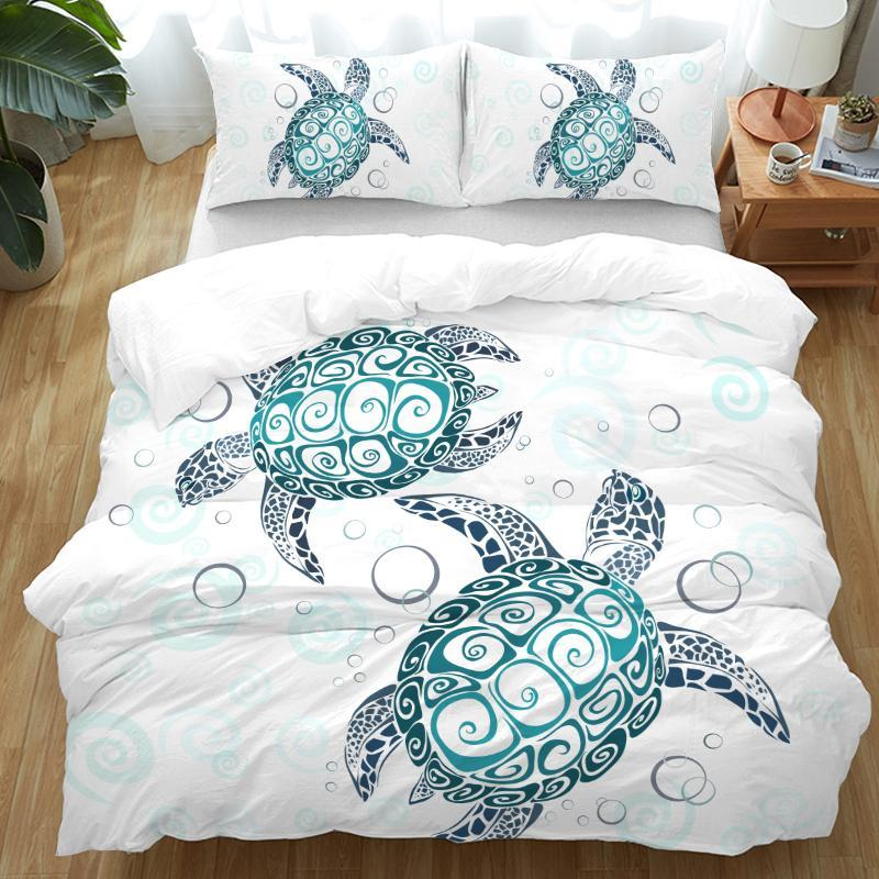 The Sea Turtle Twist Bedding Set-Duvet Comforter Bedding Set-Coastal Passion