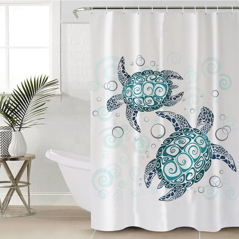 The Sea Turtle Twist Shower Curtain