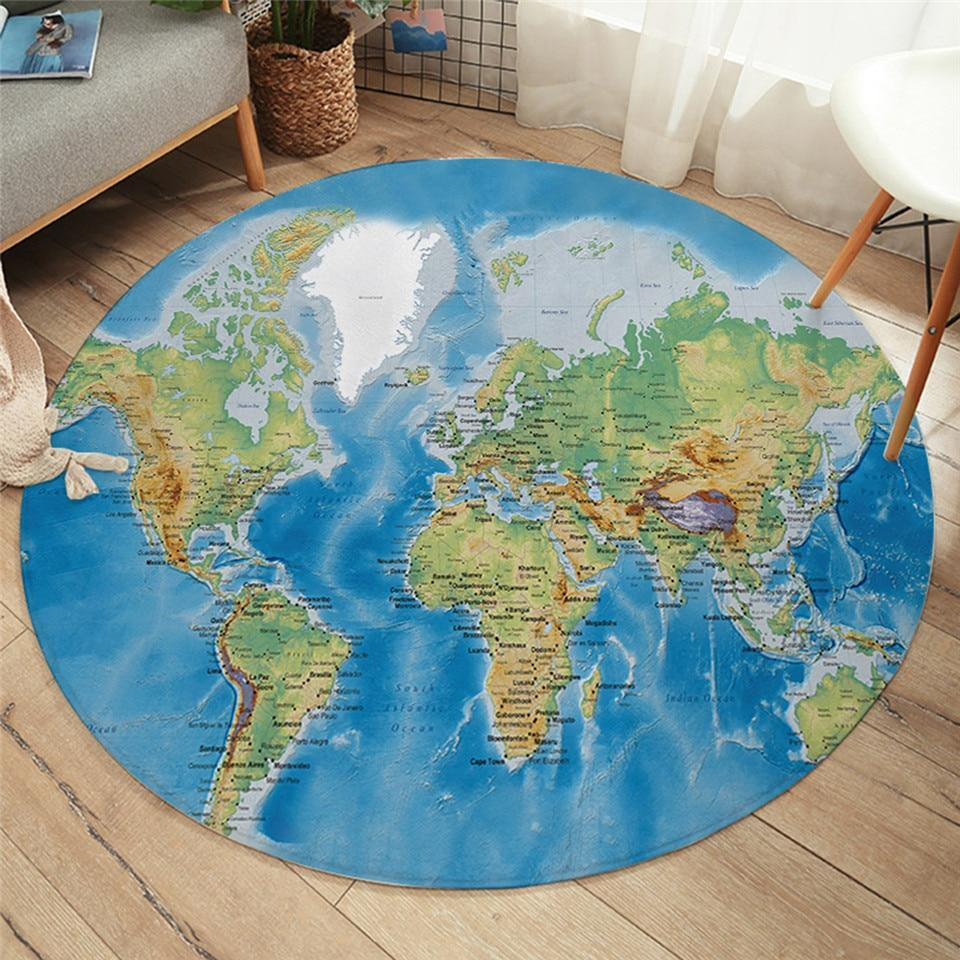The Seven Seas Round Area Rug