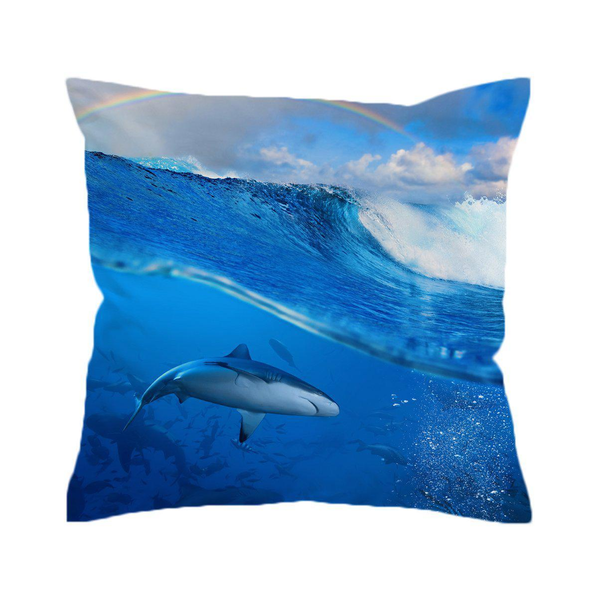 The Shark Pillow Cover-Coastal Passion