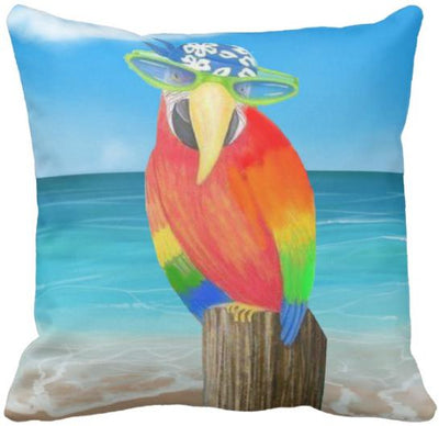 "The Summer Collection NEW!-Pillow Cover-Design 10-17"" x 17""-Standard: Linen Blend-Coastal Passion"