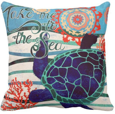 "The Summer Collection NEW!-Pillow Cover-Design 11-17"" x 17""-Standard: Linen Blend-Coastal Passion"