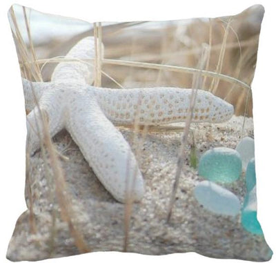 "The Summer Collection NEW!-Pillow Cover-Design 12-17"" x 17""-Standard: Linen Blend-Coastal Passion"